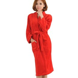 Wholesale Ladies Long Winter Robe - Wholesale- Autumn Peignoir Femme Capuche Women Badjas Night-robe Winter Women's Long Gown Lady Men Badjas Dames Hotel Bridal Warm Robes