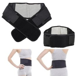 Wholesale Tourmaline Bands Wholesale - Wholesale- Adjustable Tourmaline Self-heating Magnetic Therapy Waist Belt Lumbar Support Back Waist Support Brace Double Banded aja lumbar