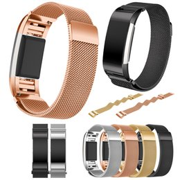 Wholesale Metal Smart Watches - For Fitbit Charge 2 Bands, bayite Stainless Steel Milanese Loop Metal Replacement Bracelet Strap with Unique Magnet Lock for Charge2