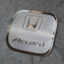 Wholesale New Fuel Tanks - NEW Honda Accord 2014-2017 Stainless Steel Fuel Tank Cover Decorative Trim Car Styling Fuel Tank Cap Decorative Cover AT3263