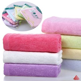 Wholesale Small Face Towels - New Bamboo fibre facecloth towel child small soft convenient wash the face towels 25x25cm DHL and Fedex Free shipping I040