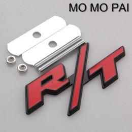 Wholesale Car Emblem R - 3D Car styling R T logo Car Front Grille Grill Emblem fit for dodge ram rt red