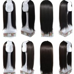 """Wholesale Extension Piece Clip Synthetic - Sara U PartWig Hair Pieces Black & Brown Clip in Straight Hair Extension Synthetic Hairpiece Long 65CM,25"""""""