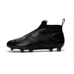 Wholesale Cheap Mens Soccer Cleats - 2017 Wholesale ACE 16+ PureControl FG NEW Men's Soccer Shoes Boost Performance Mens Discount Cheap ace 16 soccer cleats football shoes