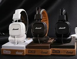 Wholesale Good Dj Headphones - Hotsale Good Marshall Major headphones With Mic Deep Bass DJ Hi-Fi Headphone HiFi Headset Professional DJ Monitor Headphone Retail Box