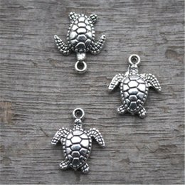 meeresschildkröte anhänger Rabatt 20pcs - Schildkröte Charms, antike tibetische Silber Ton Sea Tortoise Anhänger / Charms, Meeresschildkröte 15x11mm