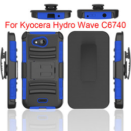 Wholesale Cover For Alcatel - Kickstand Hard Back Armor Cover For Kyocera Hydro wave c6740 Alcatel Fierce 4  One Touch Fierce XL PC+Silicone 3 IN 1 Anti-shock Slim