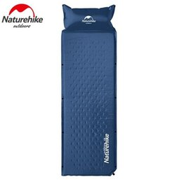 Wholesale Automatic Inflatable Air Mattress - Wholesale- Naturehike Outdoor Lightweight Camping Automatic Mat Self-Inflatable Sleeping Mat Self-Air Sleeping Pad Air Mattress With Pillow