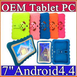 "2019 tablette chinoise 64gb Tablette PC Tablette 7 ""Quad Core pour enfants DHL Kids Android 4.4 Allwinner A33 google player wifi + grand haut-parleur + housse de protection L-7PB"