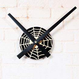 Wholesale Funny Cartoon Art - Spider Clock Web Round Black Web Clocks Funny Animal Cartoon Kids Mural Wall Art Decor Vinyl Clock Display