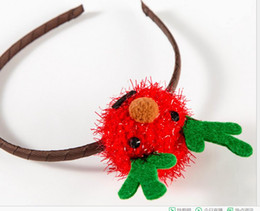 Wholesale Boring Facing Head - 2017 hot sale new arrival Manufacturers selling Christmas children's hair band Cute plush antlers head band Bear face elk headdress