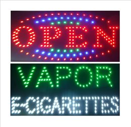 Wholesale Led Neon Board Sign - 2 pcs lot Hot selling custom neon signs led neon vapor e-cigarettes sign led vapor e-cigarettes sign board indoor