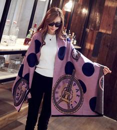 Wholesale 2017 mulheres outono inverno moda marca designer de lã cashmere xale cachecóis designer pashmina paris torre eiffel lenço