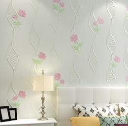 Wholesale Damascus Wallpaper - Luxury 3D Wallpapers for Walls European Style Damascus Floral WallPaper Roll Non-woven Wallpaper Flowers for Bedroom Background