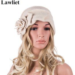 Wholesale Elegant Hats For Women - Wholesale-High Quality New Fashion Elegant Ladies Hats Winter Beret Hats for Women Outdoor Casual Cloche Cap Wool Beanie Hats A376