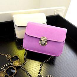 Wholesale Cute Handbag Brands - Lovely Mini Women's Vintage Handbag Purse Girl Shoulder Bag Chain Messenger Cute Lady Small Gifts PU Brand New Candy Daughter - XQQ