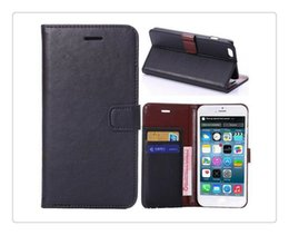 Wholesale Framed Wallets - Wallet card phone Vintage Retro Flip Stand Wallet Leather Case With Photo Frame ID Card Holder Phone Cover For iphone6 4S