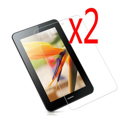 """Wholesale Mediapad Youth - Wholesale- 2x films + 2x Clean Cloth , Clear LCD Screen Protector Film Guards For Huawei MediaPad 7 Youth 2 S7-721 S7-721u S7-721w 7"""""""