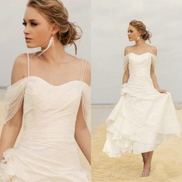 Wholesale Cheap Sexy Robes - Simple Beach Spaghetti Straps 2017 Wedding Dresses Sweetheart Lace Up Back Custom Made Cheap Wedding Bride Gowns Robe De Mariage