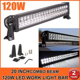 "Wholesale 22 Inch Led Light Bars - 22"" Inch 120W LED Light Bar for Work Driving Boat Car Truck 4x4 SUV ATV Off Road Fog Lamp Spot + Wide Flood Combo Beam 12V 24V"