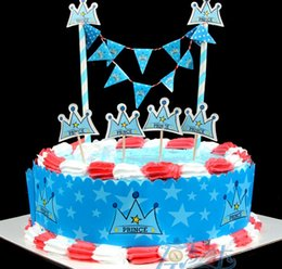 Wholesale Supplier Party Supplies - Wholesale- The prince crown supplies kid birthday suppliers child evening party set decoration celebration banner flag wrapper