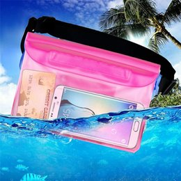 Wholesale White Strip Water Proof - Universal Waterproof Bag Transparent Water Proof Mobile Phone Camera Case with Waist Strip for Swimming Diving