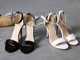 Wholesale Euramerican High Heels - The new summer New York feminine waterproof euramerican star ol beauty pure color one word sandals