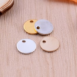 Wholesale Gold Blank Pendants - Free Shipping Lot of 20pcs 11mm Copper Round Charm Pendants Blank stamping tag DIY Jewelry Findings 4 color Options TP16001