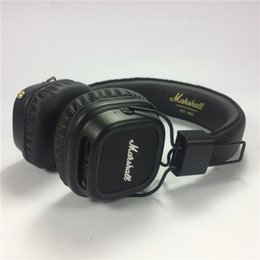 Wholesale Noise Cancelling Cell Phone Headset - 10pcs Newest Marshall Major II Wireless Headphones Bluetooth headset High Quality Professional HiFi Headphone Black VS Studio SOLO Wireless.
