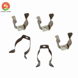 Wholesale Card Tube - T5 T8 T4 lamp tube clamp ring pipe clamp support clip retaining clip spring buckle metal clip fluorescent card,DHL Free shipping
