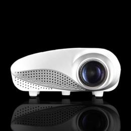 Dlp proiettore marche online-All'ingrosso- 2017 Brand New Digital Pico Proiettore MPJ802, per uso domestico a casa, risoluzione HD, lancio lungo, peso leggero.