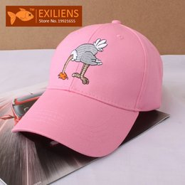 Wholesale Ostrich Hat - [EXILIENS] Fashion 2017 Brand Baseball Cap Cotton Top Quality ostrich Hot Snapback Caps Strapback Bboy Hip-hop Hats For Men Women Fitted Hat