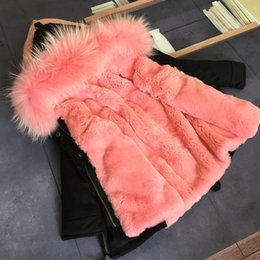 Wholesale Winter Parka Fur Hood - Girid jackets and coats new aeeival fashion thick warm fur hood parka down baby clothes children's clothes clothing