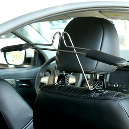 автомобильные вешалки для одежды костюм пальто Масштабируемый Удобный подголовник кресло для хранения сидений стеллаж из нержавеющей стали от Поставщики вешалки для одежды