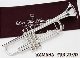 Wholesale B Flat Trumpet - wholesale NEW Trumpet YTR-2335S TomBB instrument silver Plated B flat trumpet Grading preferred shipping