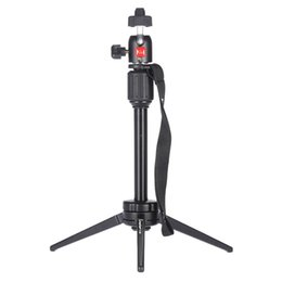 "Wholesale Mini Video Tripod - Portable Aluminum Alloy Mini Video Tabletop Tripod with Swivel Ball Head for Smartphones,and Most DSLR Cameras with 1 4"" Thread"