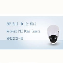 Wholesale Mini Ip Ptz Dome - DAHUA Security IP Camera 2MP Full HD 12x Mini Network PTZ Dome Camera IP66 With POE+ Without Logo SD42212T-HN