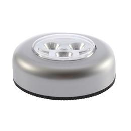 Batería led redonda online-3 colores redonda sin cuerda Kids Touch Lamp 3 LED Batería con pilas Tap Touch Light Lamp Home Night bombilla envío gratis