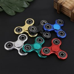 Wholesale Orange Tip - 2017 New EDC Camo Fidget Spinner decompression anxiety toys Plating 4 colors Hand Spinner Finger Tip Rotation anxiety Free Shipping