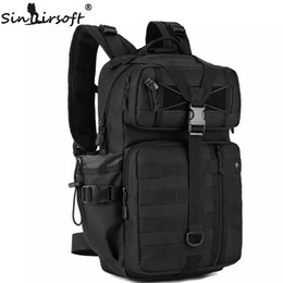 Wholesale Molle Waterproof - SINAIRSOFT Outdoor Tactical Backpack 1000D Waterproof Army Shoulder hunting backpack Multi-purpose Molle Sports Bag