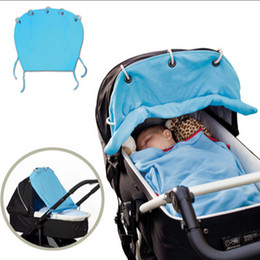 Wholesale Reversible Seat Pram - Wholesale- baby stroller accessories sun cover portable baby sunshade cotton covers curtain sunshield sun canopy for prams stroller