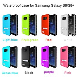 Wholesale Iphone Waterproof Case Redpepper - For Samsung Galaxy S8 Plus S7 Edge S6 Iphone 6 6S 7 Plus Waterproof Redpepper Case Water Snow Proof Kick-off Stand Retail Package