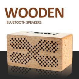 2019 musik engel sprecher Hölzerne Bluetooth-Lautsprecher Home Outdoor Große drahtlose Lautsprecher für Iphone 2.0 Stereo JL 4.0 Charge 3 USB-Lautsprecher 1500mAh Li-Batterie