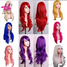 Wholesale High Quality Red Wig - Hot Sales Colorful Women Long Straight Wigs Heat Resistant Full Hair Fashion Synthetic Wigs 28Inch High Quality Free Shipping