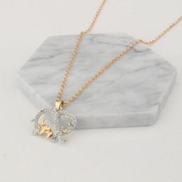 Wholesale White Elephant Jewelry - Two - color size elephant pendant necklace fashion cute animal elephant pendant jewelry Mother's Day gift wholesale free shipping