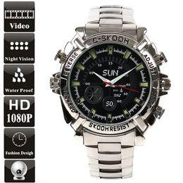 Wholesale 16gb Spy Watches Camera Waterproof - HD Hidden 1080p Waterproof Spy Watch 16GB 8GB Camera W2000 Infared Night Vision 1920x1080p Watch DVR