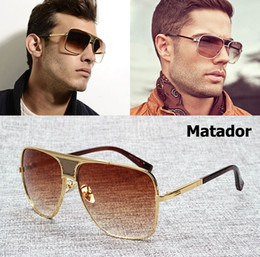 Wholesale Aviator Brand Pilot Metal Sunglasses - Wholesale- 2016 New Fashion Style Matador Metal Alloy Frame Gradient Sunglasses Men Brand Design Aviator Sun Glasses Vintage Oculos De Sol