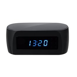 Wholesale Wifi Hd Cam - HD H.264 1080P Wifi Clock Camera P2P Night Vision Spy Hidden Cam Security Surveillance 140 degree 2710 Lense