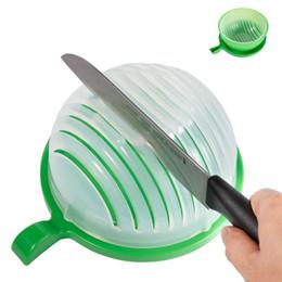 Wholesale Fast Fresh - Salad Maker Fruit Vegetable Bowl Cutter-Fast Fresh Salad Slicer Salad Chopper