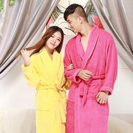 Wholesale Towelling Robe Women - Bathrobe Women Chritmas Pajamas Hotel SPA Plus Robes Pajamas for Women Nightgown Man Women's Sleepwear Bath Towels
